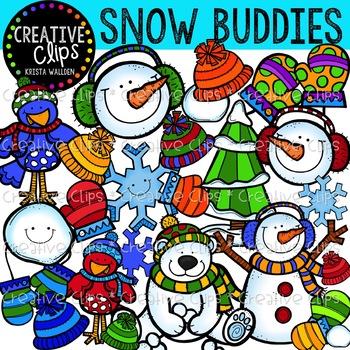 Snow Buddies Winter Clipart {Creative Clips Clipart}.