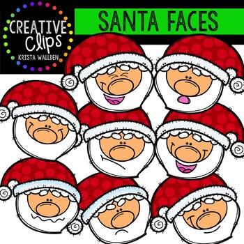 Christmas Faces Bundle {Creative Clips Clipart}.