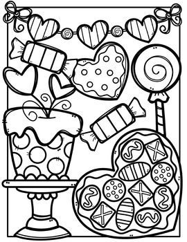 FREE Valentine Coloring Pages {Made by Creative Clips.