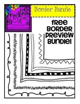 FREE BORDERS Creative Clips Digital Clipart.