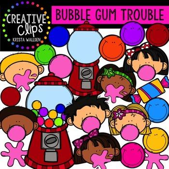 Bubble Gum Trouble {Creative Clips Digital Clipart}.