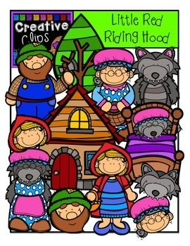 Little Red Riding Hood {Creative Clips Digital Clipart.