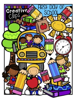 First Day of School {Creative Clips Digital Clipart}.