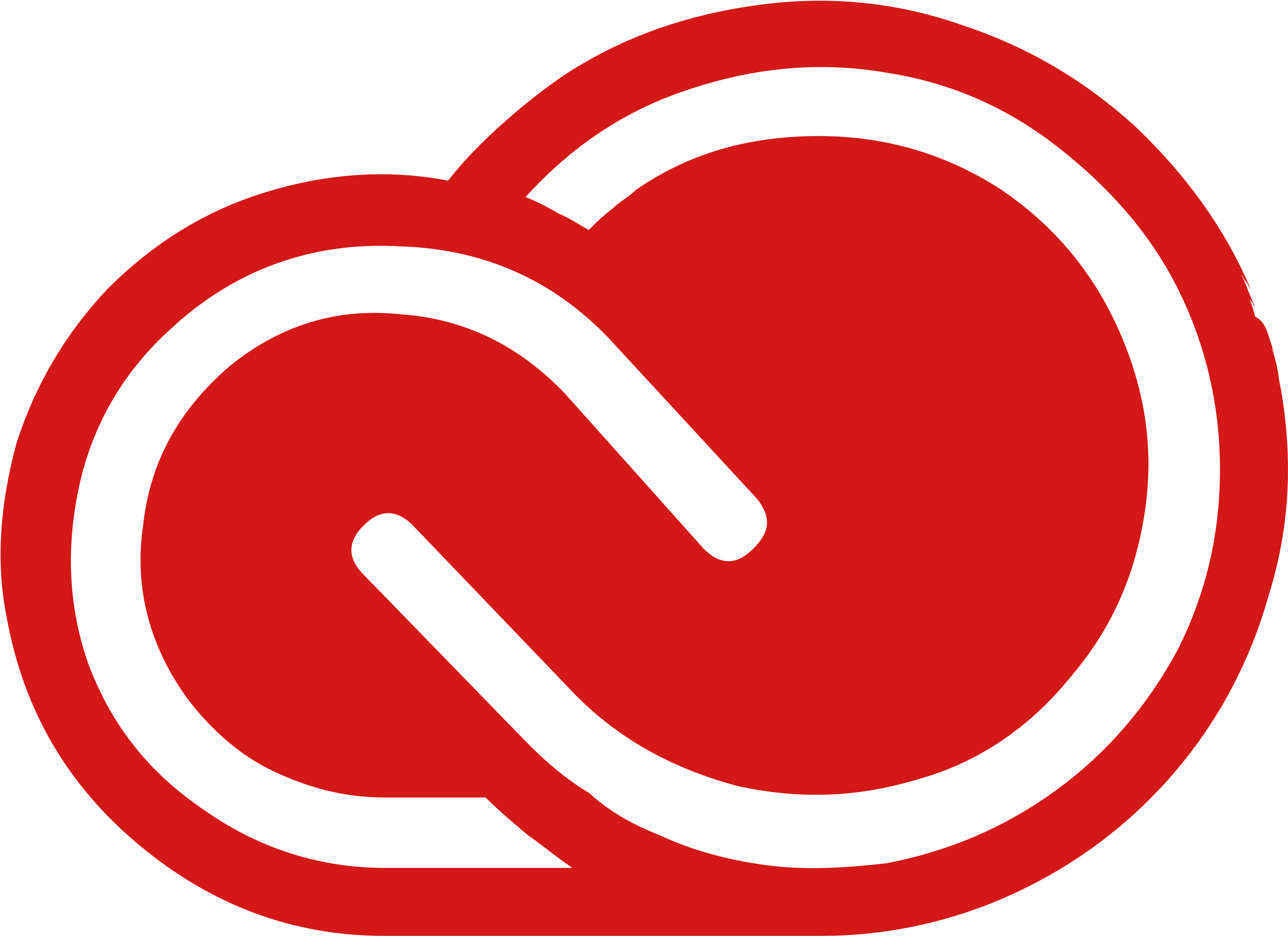 Adobe Creative Cloud logo, logotype. All logos, emblems, brands.