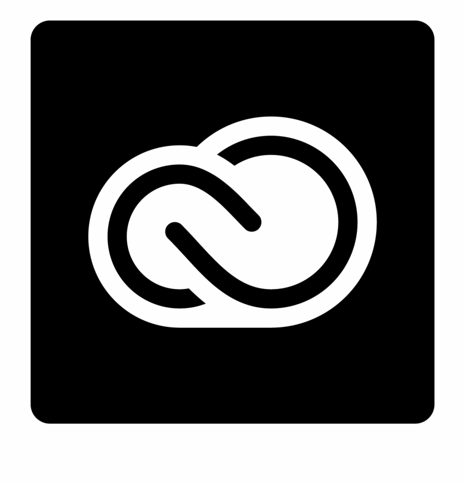 Adobe Creative Cloud Filled Icon.