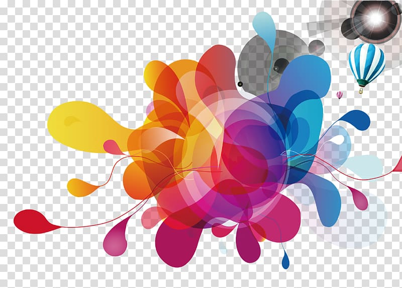 Multicolored , Light Graphic design Color, Cool creative.