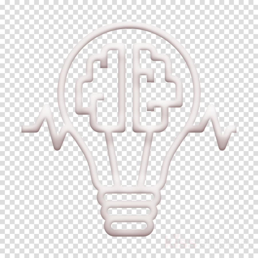 Creative idea icon Brain icon Advertising icon clipart.