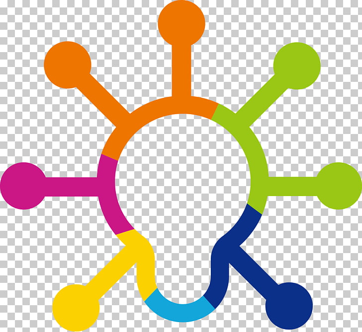 Computer network Logo Icon design Icon, Color bulb idea.