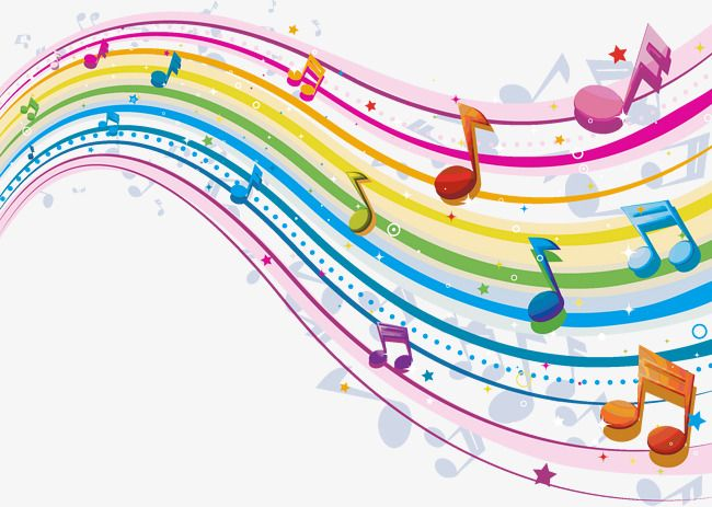 Music Creative Color Liner Notes, Music Clipart, Color.