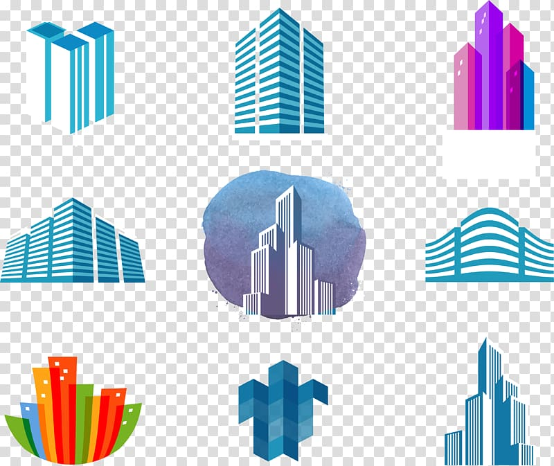 Logo House Building Skyline, Creative logo transparent.