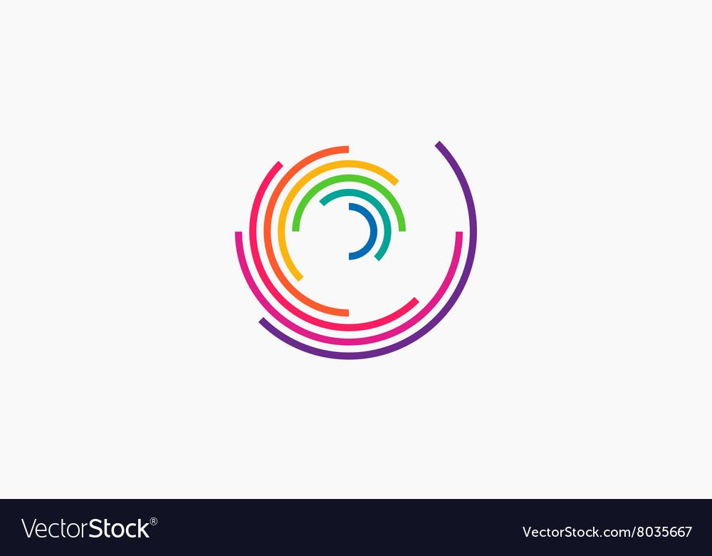 Spiral design logo Round logo design Creative.