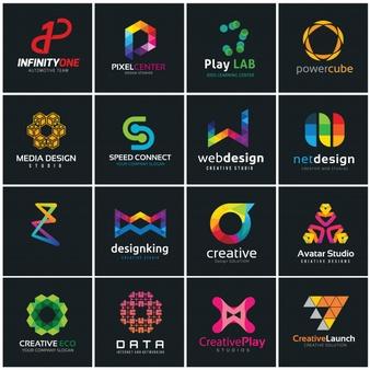 Creative logo collection, media and creative idea logo.