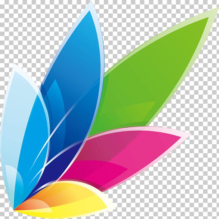 Creative color logo design, white and multicolored logo PNG.