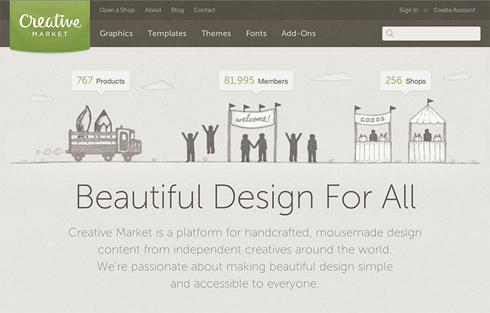 Meet Creative Market: A New Platform for Buying and Selling.