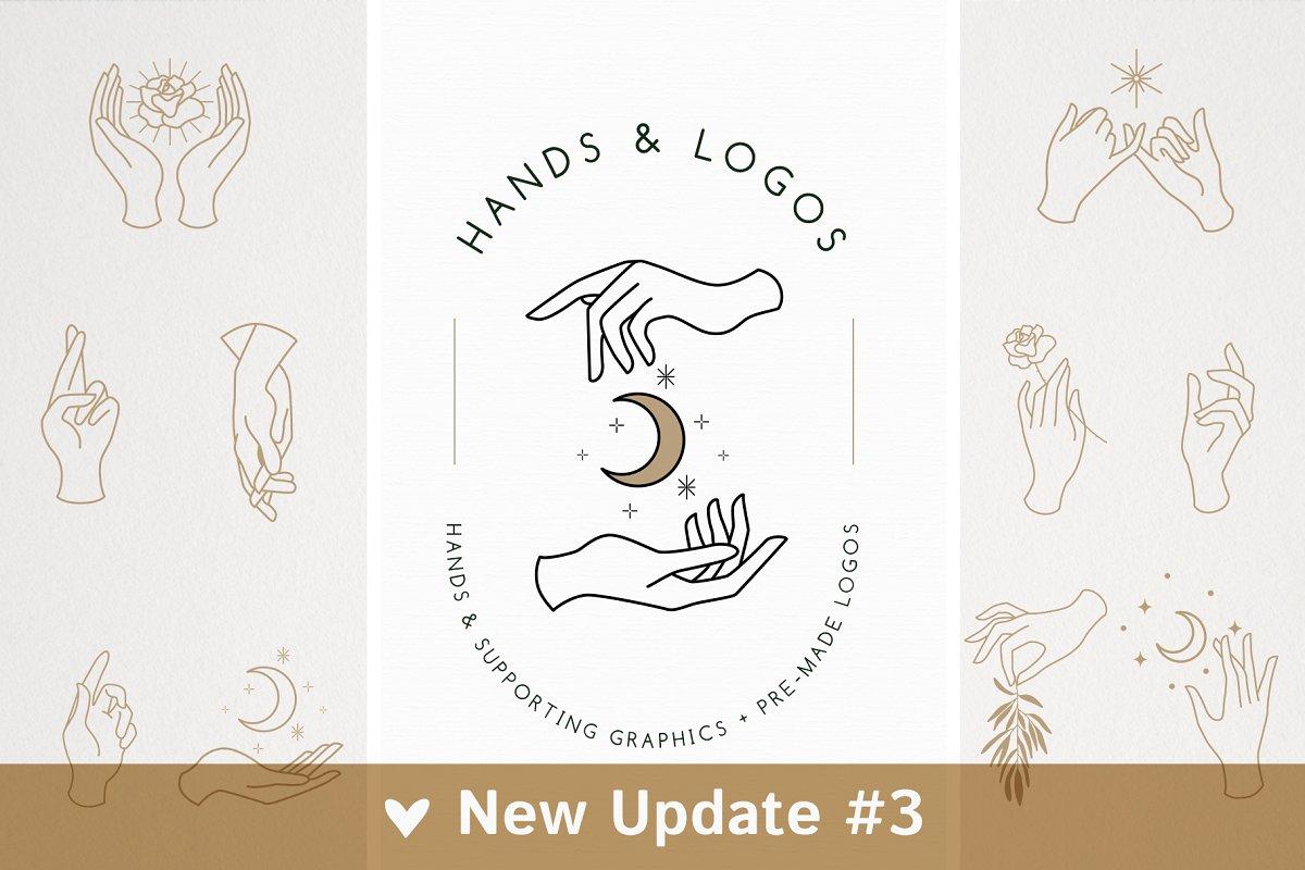 18 Hands & Logo Templates ~ Logo Templates ~ Creative Market.