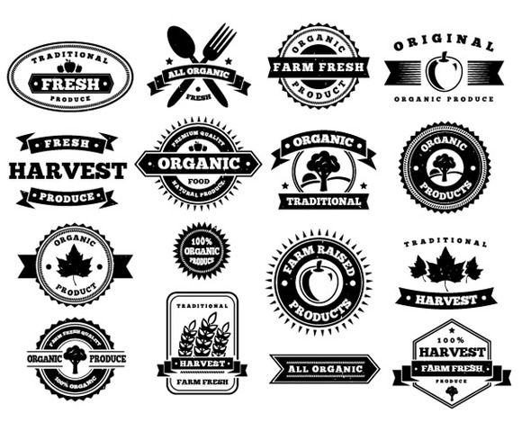 Check out Harvest Vector Badges by vandelay on Creative.
