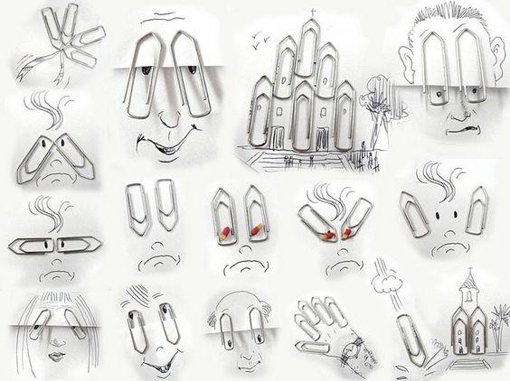 Paper clip art!.