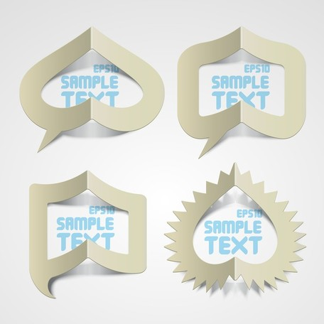 Creative Paper Folded Hollow Text Template Vector 1, vector.