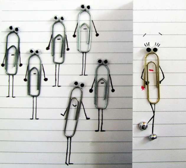Paper clip art ideas.