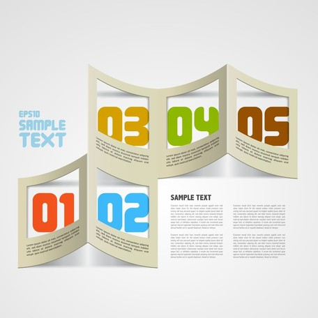 Creative Paper Folded Hollow Text Template Vector 4, Vector Images.