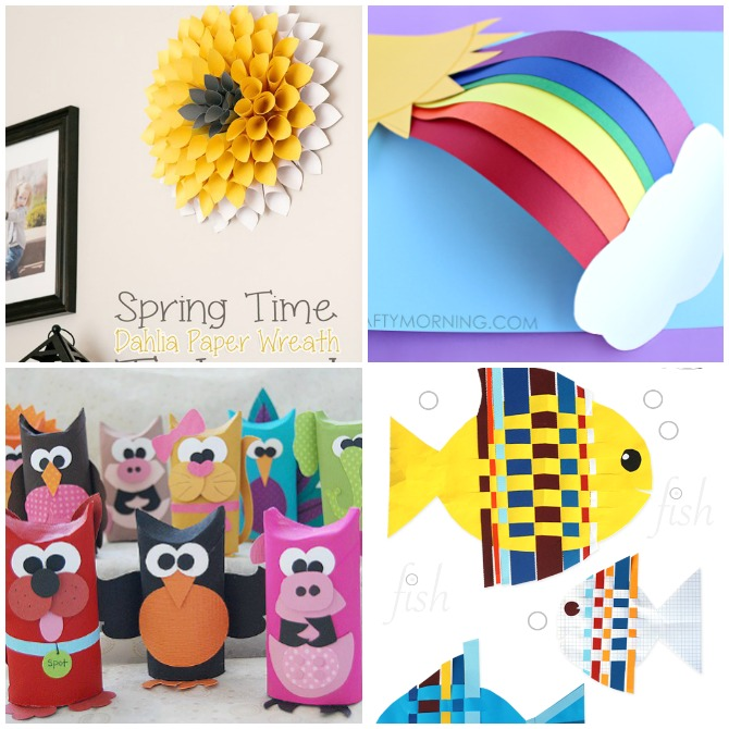 20 Creative Paper Crafts for Kids.