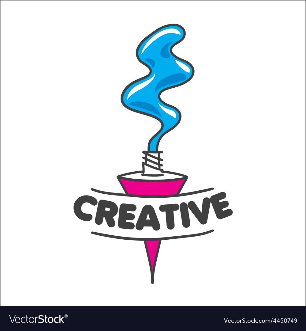 Logo tube of paint for creativity.