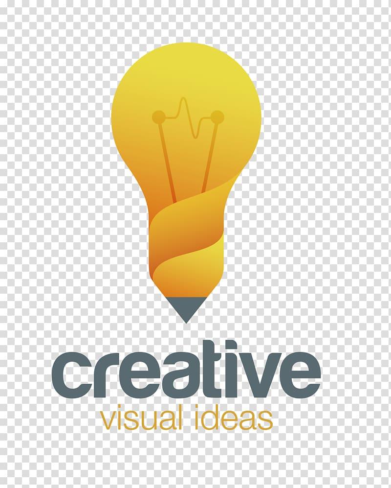 Logo Creativity Idea, cartoon light bulb material.