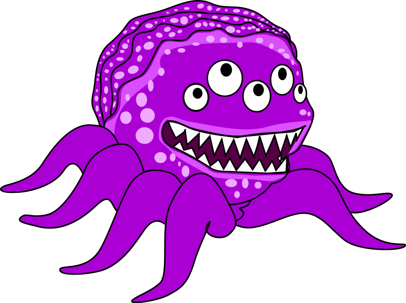 Monster creature clipart.