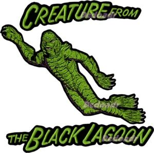 Details about Set Creature from the Black Lagoon Embroidered Big Patches  Universal Monsters.