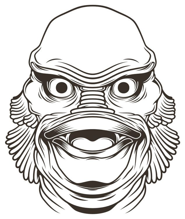 Creature from the black lagoon..
