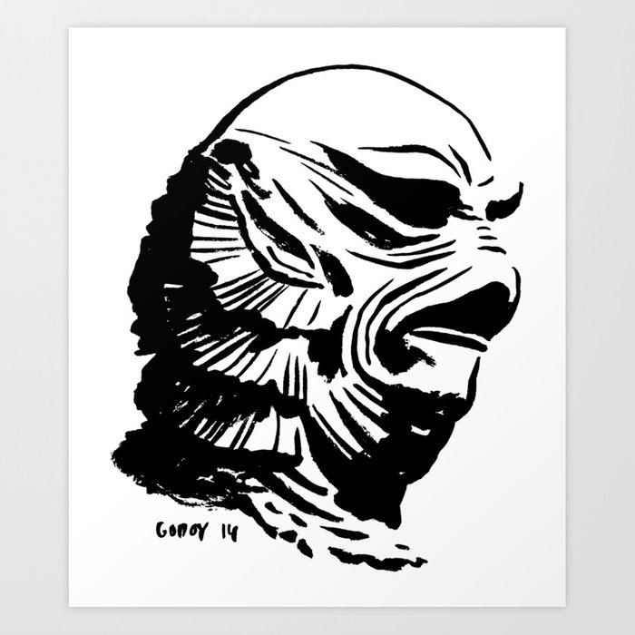Creature from the Black Lagoon Art Print by javigodoy.