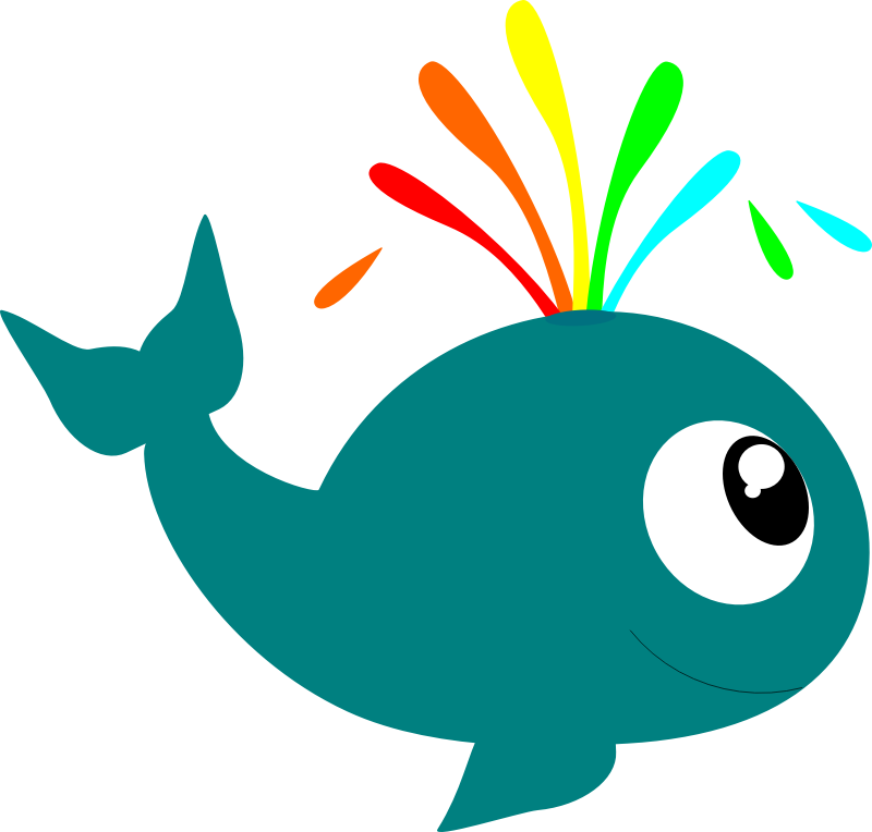 Animated sea creatures clipart.