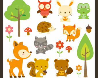 Woodland creature clipart #14