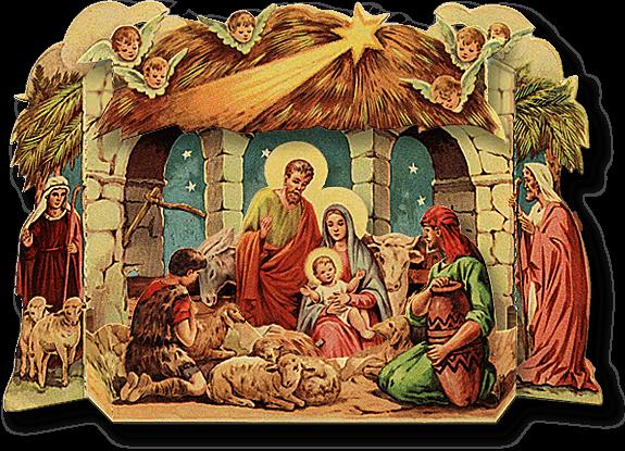 Christmas creche clipart.