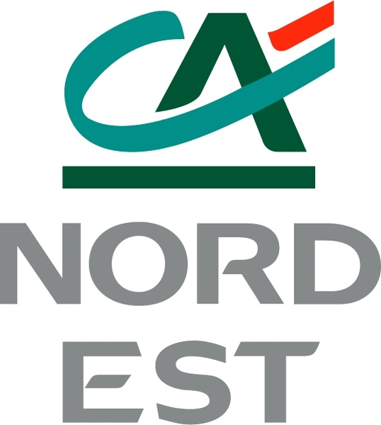 Credit agricole nord est Free vector in Encapsulated.