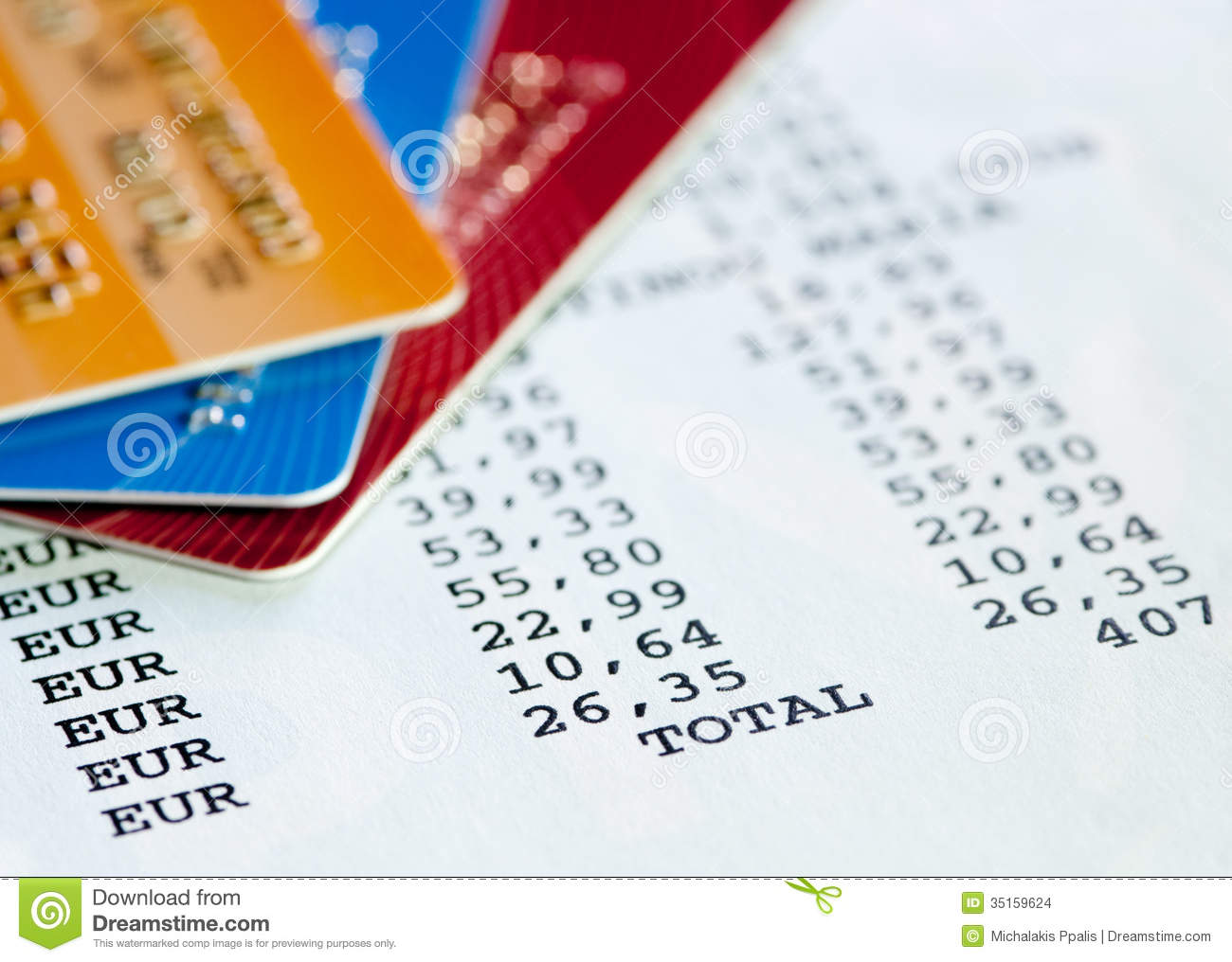 Credit Card Statement Stock Images.