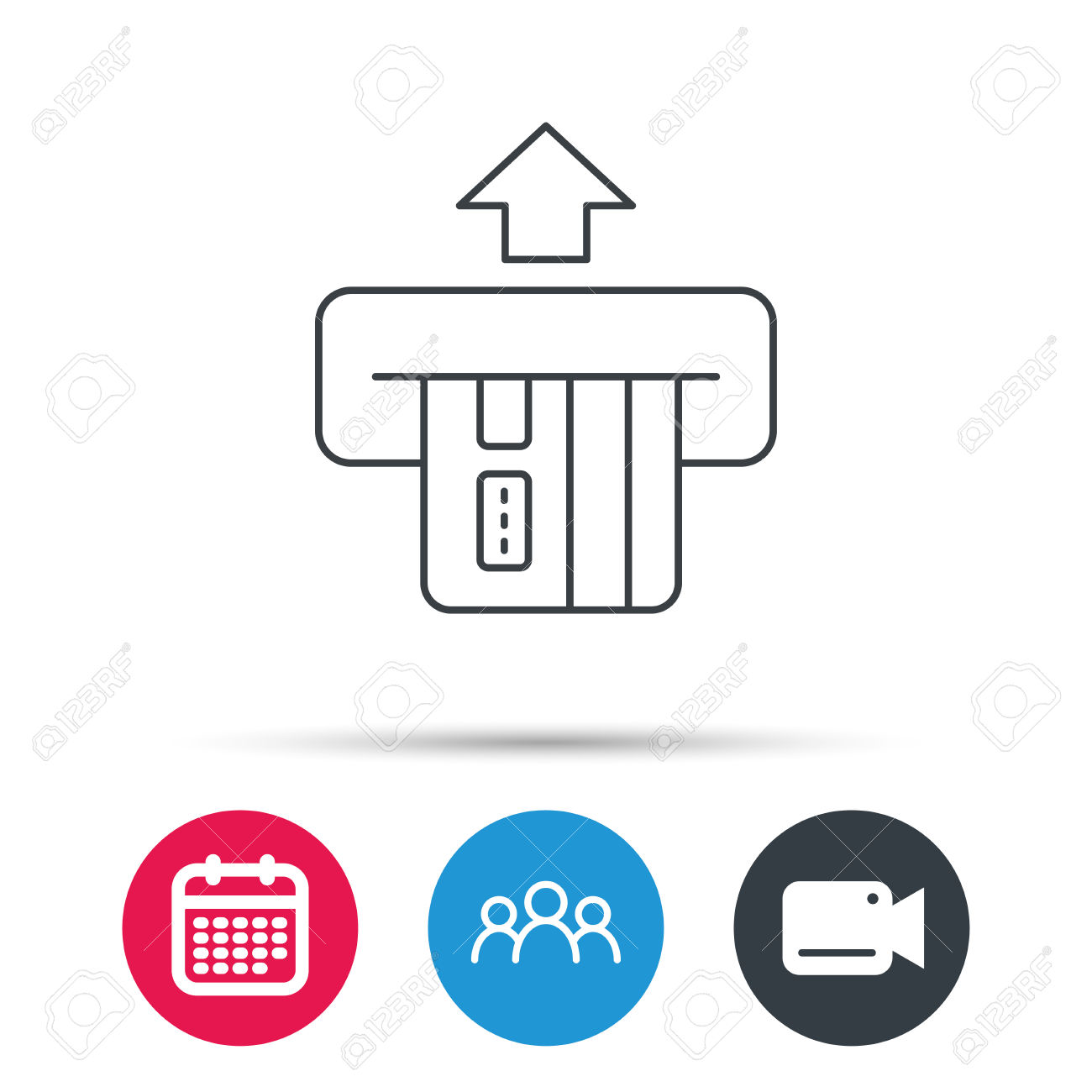 Insert Credit Card Icon. Shopping Sign. Bank ATM Symbol. Group.
