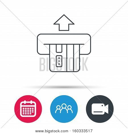 Insert credit card icon. Shopping sign. Bank ATM symbol. Group of.
