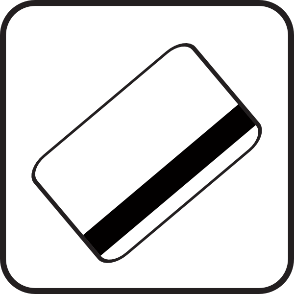 Credit card clipart black and white.