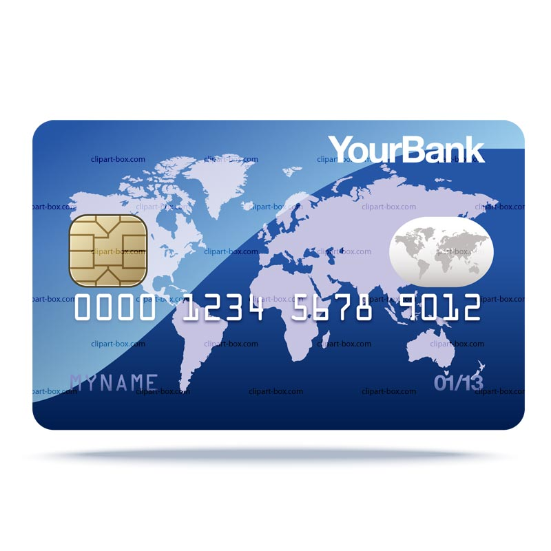 CLIPART CREDIT CARD.