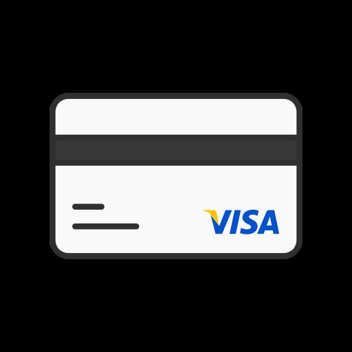 Atm card, credit card, debit card, visa card icon.