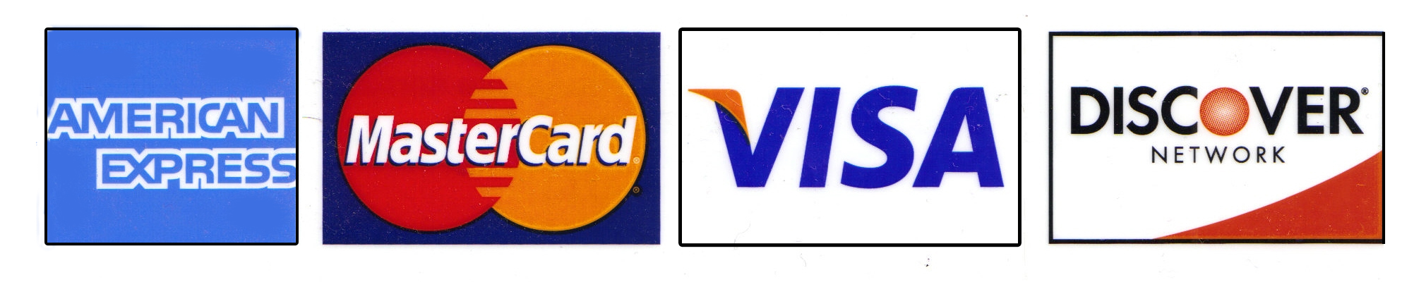 Credit card blanks with Logos.