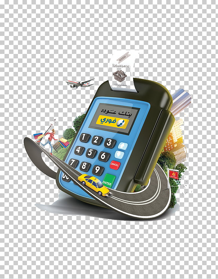 Mobile phone Credit card Bank card, Cartoon credit card.
