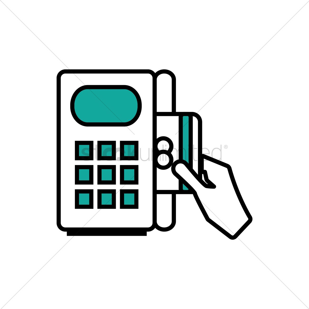 Credit Card Machine Clipart.