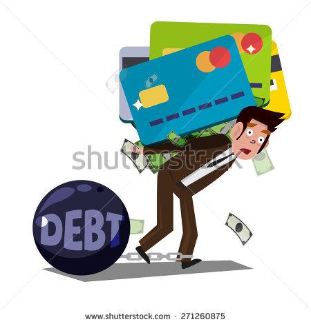 Credit Card Debt Stock Photos, Royalty.