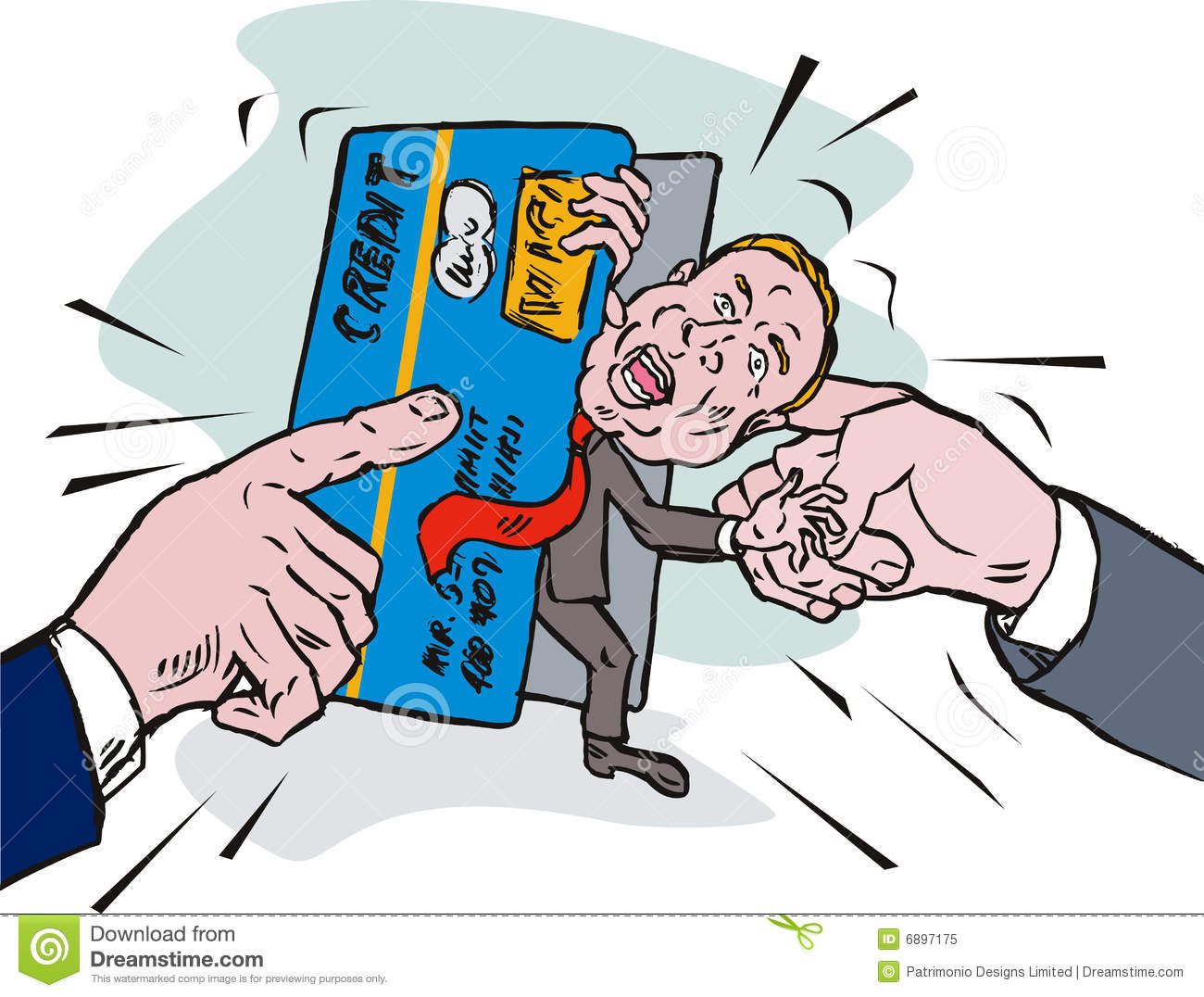 Showing post & media for Cartoon man with credit card.