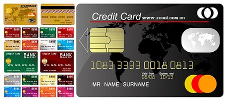 Multiple credit card template Clipart Picture Free Download.