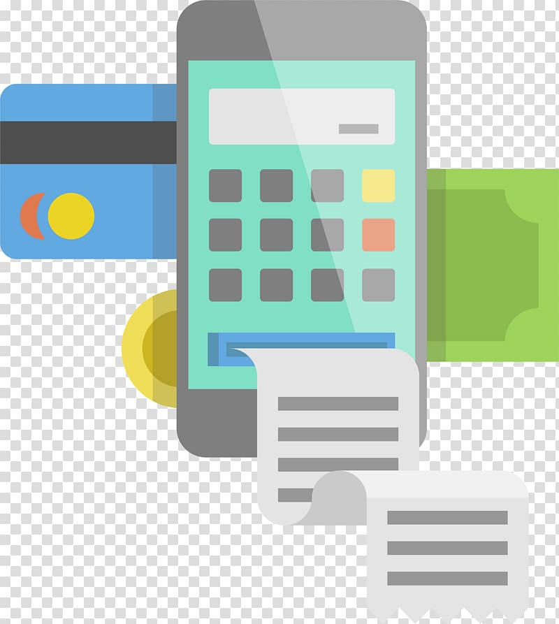 Mobile phone Software Template Android, Credit card payment.
