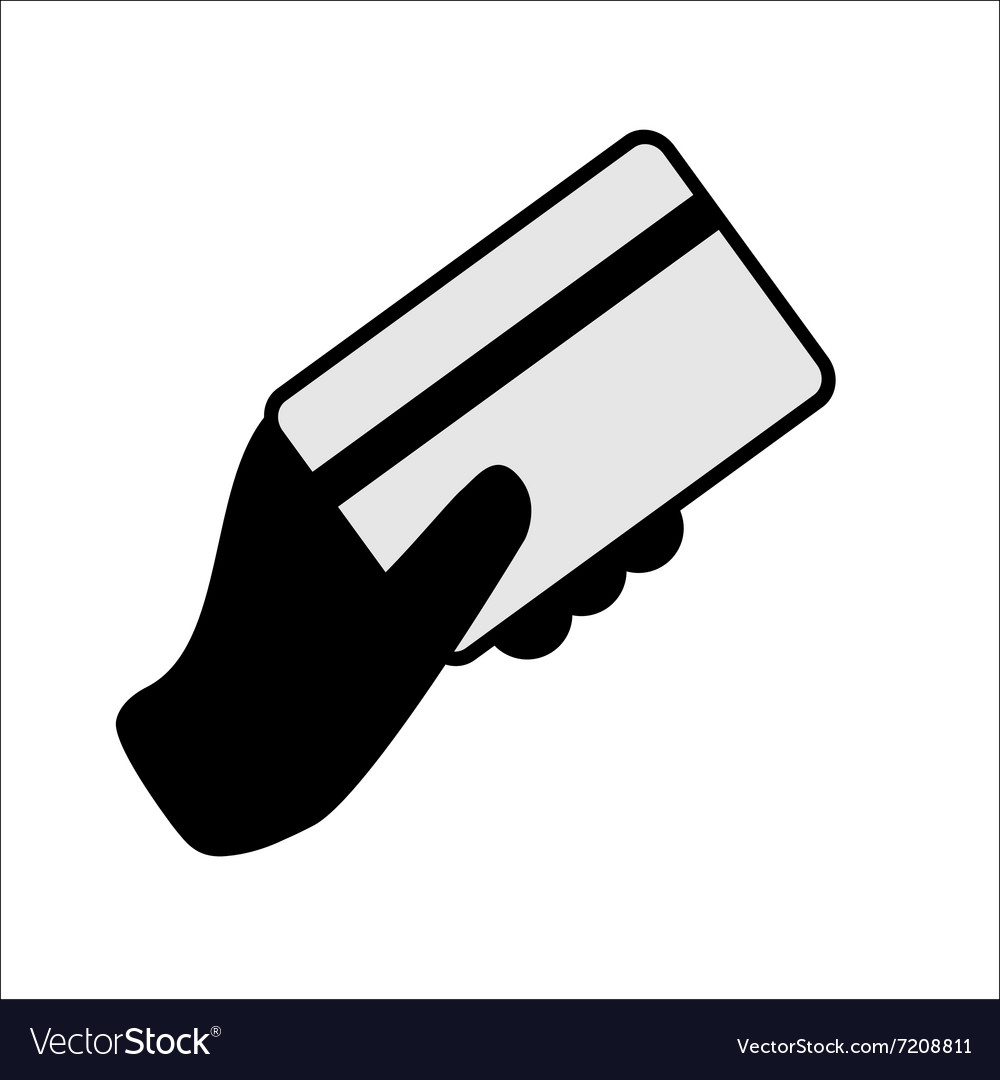 Hand holding a credit card.