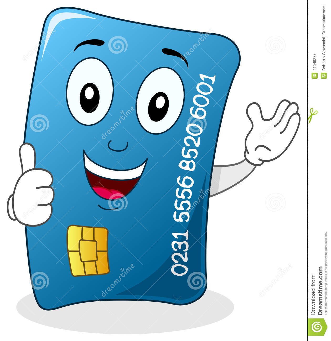 Funny Credit Card Clipart.